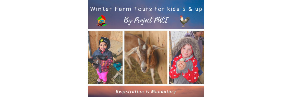 Winter Farm Tours for kids 5 & up